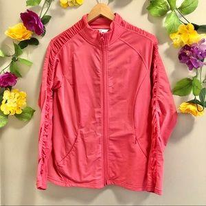 Cleo Activewear Pink Zip Up Jacket